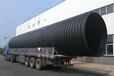 pe波纹排水管厂家供应钢带增强PE螺旋波纹管