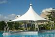 宜春市休闲广场张拉膜,膜结构景观伞设计制作