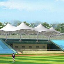 九江市篮球场膜结构制作,体育看台膜结构施工图片
