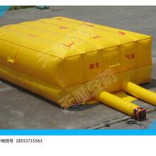 天盾救生气垫6M4M8M4M送风机送移动缆线盘救生气垫大小图片