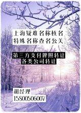 上海工商查名标准疑难名称核名指定名称核准费用