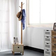 宜家风创意家居楠竹卧室储物收纳落地多功能简易衣帽架换鞋凳