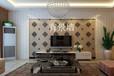 电视背景墙装饰效果图95浮雕板环保零甲醛