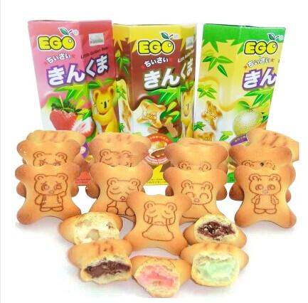 马来西亚进口ego迷你小熊饼干夹心零食品热销休闲儿童点心星选70g