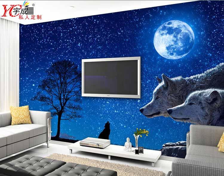 淡蓝色欧式墙布贴图