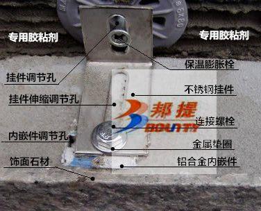 岩棉A级防火超薄石材保温复合板挂贴系统