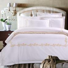 昆明民宿酒店高端纯色床上用品四件套琳妮洁酒店布草酒店床上用品厂家图片