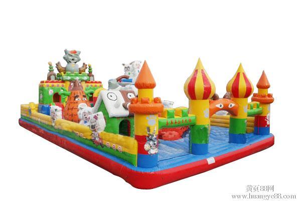 气娱乐城充气城堡迪士尼城堡充气儿童乐园充气蹦床