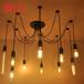 复古咖啡厅餐厅酒吧多头蜘蛛灯办公室创意天女散花吊灯工业loft灯