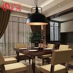 美式乡村铁艺餐厅书房展厅咖啡厅酒吧吊灯复古工业风LOFT半圆吊灯