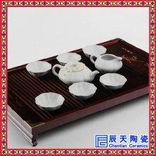供应8头双层防热梅花点点陶瓷茶具套装特价茶具套装礼品