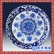 景德鎮青花手繪瓷器餐具盤窩盤果盤擺件仿古青花纏枝蓮大瓷盤