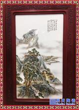 个性插画壁画挂画来图定做瓷板画摆件礼品现代茶楼陶瓷挂画图片