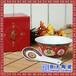 红黄陶瓷寿碗定制骨瓷百岁碗寿宴烧刻字伴手礼批发