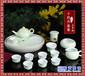 陶瓷簡約青瓷家用泡茶壺小杯子純手工繪畫白瓷茶具套裝