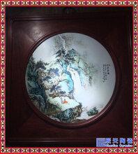 瓷板画景德镇手绘定制大师手绘瓷板瓷块陶瓷礼品山水花鸟瓷板画图片