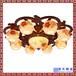 实木吸顶灯复古实木雕花陶瓷灯具现代中式茶餐厅卧室灯具