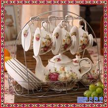 陶瓷咖啡具套装定制高档咖啡馆陶瓷咖啡具套装送女友咖啡具套装图片