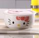 简约陶瓷碗泡面杯带盖密封大汤碗带把手防烫大容量创意陶瓷早餐杯