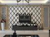 艺术拼镜背景墙银镜茶镜菱形酒店宾馆KTV客厅卧室工厂直销