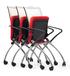 网布会议椅网布折叠会议椅,网布多功能椅子,东莞办公椅厂家
