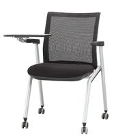 网布培训椅,高端网布培训椅,带写字板培训椅,布面培训椅图片