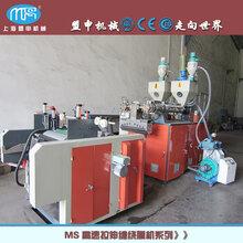 上海盟申全自动装卸纸管缠绕膜机PE缠绕膜机PE自装卸流延膜机