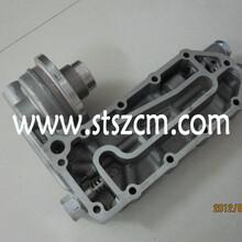 朝阳小松PC300-7机油冷却器盖6743-61-2111小松原厂配件小松机油冷却器