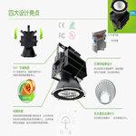 LED光源码头场馆强光远射灯工地塔吊灯工矿投光灯三防大功率探照灯300-500W