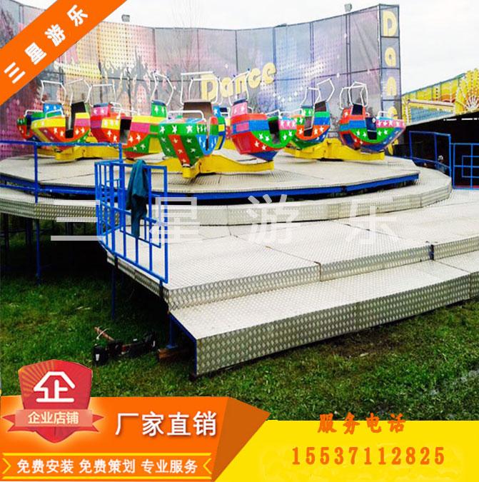 大型游乐设备厂家儿童游乐设施霹雳转盘plzp18人新型公园游乐设施造型独特2017赚钱神器