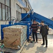 宁波40吨液压打包机卧式废纸皮压缩打捆机图片