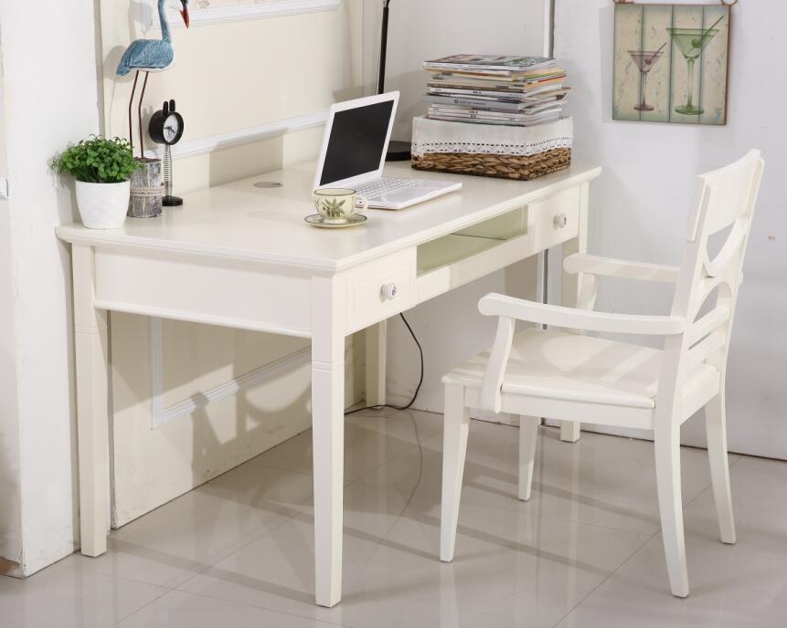 韩式田园学习书桌卧室写字台书房白色电脑桌