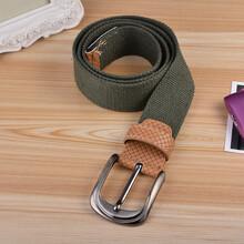 新款韩版复古棉休闲时尚男士皮带自动扣帆布腰带图片