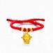 3D硬金生肖猴子千足金黄金吊坠黄金属相坠子项链女款礼物饰品Q猴