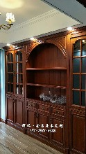 张家界原木整木家具真材实料、原木推拉门、鞋柜订做工厂评价图片