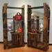 万豪船木家具实木架子博古架多宝阁古董架酒架置物架展示架子