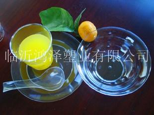 航空水晶餐具批发商临沂鸿泽塑业有限公司图片