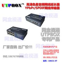 1分8口YPbPr音频网线延长器/YPbPr分播式发射/高清色差分配延长器