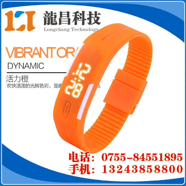 贴牌LED学生手表供应商,江苏LED运动手环表那家便宜