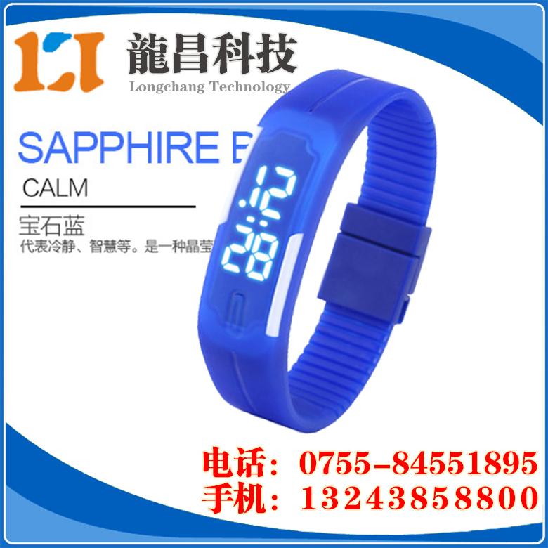 广州硅胶LED手表厂家批发,黄埔LED运动手环表那里便宜