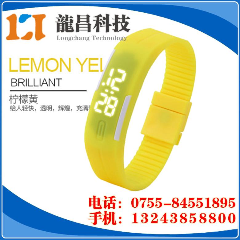 外贸学生LED手表生产厂家,代工LED运动手环表批发价格