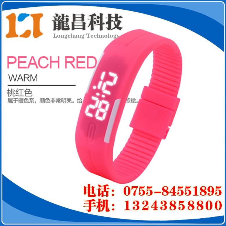 东莞LED电子手表厂家订做,长安LED运动手环表那家便宜