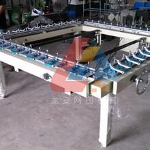 广东龙安1215A双夹拉网机单夹绷网机拉网机厂家图片