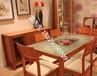 西安红木家具玻璃面玻璃板红木茶几餐桌桌面