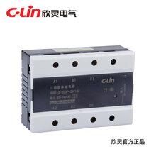 欣灵固态继电器HHG1-3/250F-38-10A直流控制交流SSR三相固体继电器图片