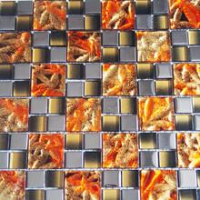 银川市城区堂碧馨品牌优质的玻璃电镀马赛克瓷砖制造商厂家直销图片