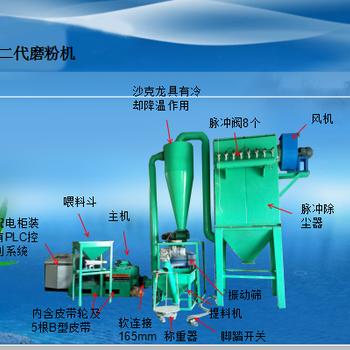 订制商标纸磨粉机800大型彩色塑钢磨粉机械