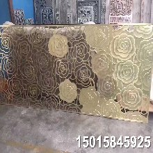 福建酒店欧式花格镂空铝板雕刻装饰屏风隔断图片
