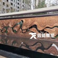 紫銅浮雕壁畫佛山鑫踏大型純手工鍛銅壁畫廠家定制多少錢一方?圖片