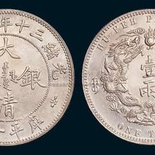 天津大清银币正规拍卖哪家强,双龙寿字币价值多少?图片